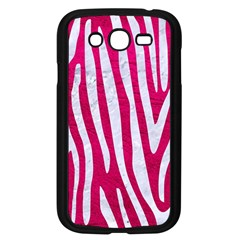 Skin4 White Marble & Pink Leather (r) Samsung Galaxy Grand Duos I9082 Case (black) by trendistuff