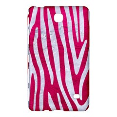 Skin4 White Marble & Pink Leather (r) Samsung Galaxy Tab 4 (7 ) Hardshell Case  by trendistuff