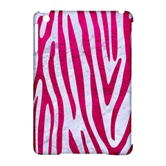 Skin4 White Marble & Pink Leather Apple Ipad Mini Hardshell Case (compatible With Smart Cover) by trendistuff