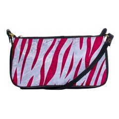 Skin3 White Marble & Pink Leather (r) Shoulder Clutch Bags by trendistuff