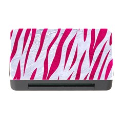 Skin3 White Marble & Pink Leather (r) Memory Card Reader With Cf by trendistuff