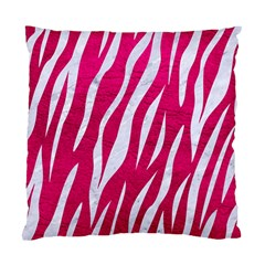 Skin3 White Marble & Pink Leather Standard Cushion Case (one Side) by trendistuff