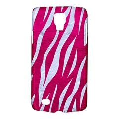 Skin3 White Marble & Pink Leather Galaxy S4 Active by trendistuff
