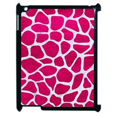 Skin1 White Marble & Pink Leather (r) Apple Ipad 2 Case (black) by trendistuff