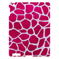 Skin1 White Marble & Pink Leather (r) Apple Ipad 3/4 Hardshell Case by trendistuff
