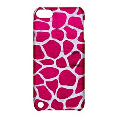 Skin1 White Marble & Pink Leather (r) Apple Ipod Touch 5 Hardshell Case With Stand by trendistuff