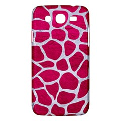 Skin1 White Marble & Pink Leather (r) Samsung Galaxy Mega 5 8 I9152 Hardshell Case  by trendistuff
