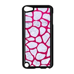 Skin1 White Marble & Pink Leather Apple Ipod Touch 5 Case (black) by trendistuff