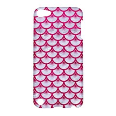 Scales3 White Marble & Pink Leather (r) Apple Ipod Touch 5 Hardshell Case by trendistuff