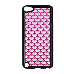 Scales3 White Marble & Pink Leather (r) Apple Ipod Touch 5 Case (black) by trendistuff