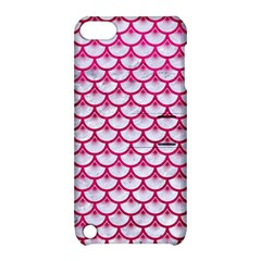 Scales3 White Marble & Pink Leather (r) Apple Ipod Touch 5 Hardshell Case With Stand by trendistuff