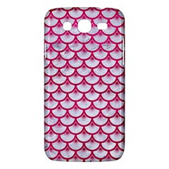 Scales3 White Marble & Pink Leather (r) Samsung Galaxy Mega 5 8 I9152 Hardshell Case  by trendistuff