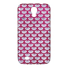 Scales3 White Marble & Pink Leather (r) Samsung Galaxy Mega 6 3  I9200 Hardshell Case by trendistuff