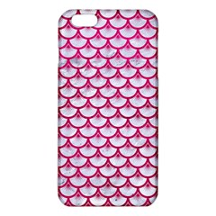 Scales3 White Marble & Pink Leather (r) Iphone 6 Plus/6s Plus Tpu Case by trendistuff
