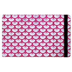Scales3 White Marble & Pink Leather (r) Apple Ipad Pro 9 7   Flip Case by trendistuff