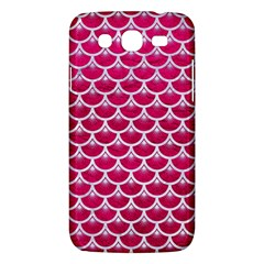 Scales3 White Marble & Pink Leather Samsung Galaxy Mega 5 8 I9152 Hardshell Case  by trendistuff