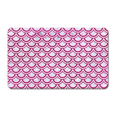 Scales2 White Marble & Pink Leather (r) Magnet (rectangular) by trendistuff