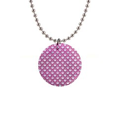 Scales2 White Marble & Pink Leather (r) Button Necklaces by trendistuff