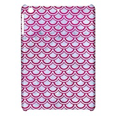 Scales2 White Marble & Pink Leather (r) Apple Ipad Mini Hardshell Case by trendistuff