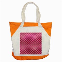 Scales2 White Marble & Pink Leather Accent Tote Bag by trendistuff