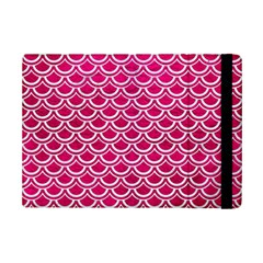 Scales2 White Marble & Pink Leather Ipad Mini 2 Flip Cases by trendistuff