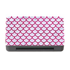Scales1 White Marble & Pink Leather (r) Memory Card Reader With Cf by trendistuff
