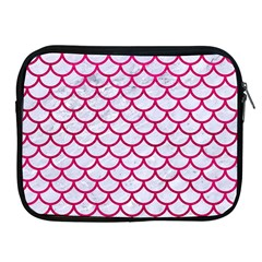 Scales1 White Marble & Pink Leather (r) Apple Ipad 2/3/4 Zipper Cases by trendistuff