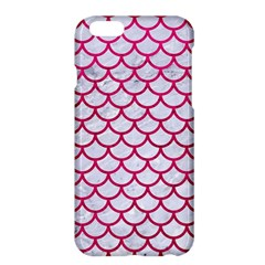 Scales1 White Marble & Pink Leather (r) Apple Iphone 6 Plus/6s Plus Hardshell Case by trendistuff