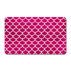 Scales1 White Marble & Pink Leather Magnet (rectangular) by trendistuff