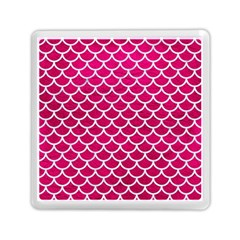 Scales1 White Marble & Pink Leather Memory Card Reader (square)  by trendistuff