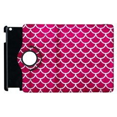 Scales1 White Marble & Pink Leather Apple Ipad 3/4 Flip 360 Case by trendistuff