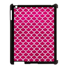 Scales1 White Marble & Pink Leather Apple Ipad 3/4 Case (black) by trendistuff