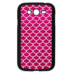Scales1 White Marble & Pink Leather Samsung Galaxy Grand Duos I9082 Case (black) by trendistuff