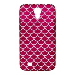 Scales1 White Marble & Pink Leather Samsung Galaxy Mega 6 3  I9200 Hardshell Case by trendistuff