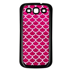 Scales1 White Marble & Pink Leather Samsung Galaxy S3 Back Case (black) by trendistuff