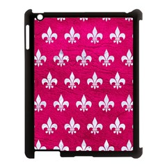 Royal1 White Marble & Pink Leather (r) Apple Ipad 3/4 Case (black) by trendistuff