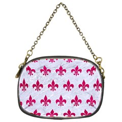 Royal1 White Marble & Pink Leather Chain Purses (one Side)  by trendistuff