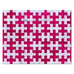 Puzzle1 White Marble & Pink Leather Rectangular Jigsaw Puzzl by trendistuff