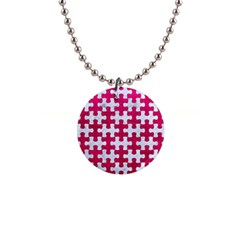 Puzzle1 White Marble & Pink Leather Button Necklaces by trendistuff