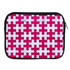 Puzzle1 White Marble & Pink Leather Apple Ipad 2/3/4 Zipper Cases by trendistuff