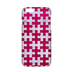 Puzzle1 White Marble & Pink Leather Apple Iphone 6/6s Hardshell Case by trendistuff