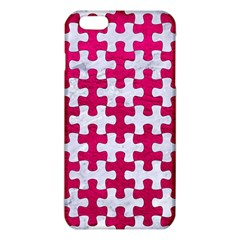 Puzzle1 White Marble & Pink Leather Iphone 6 Plus/6s Plus Tpu Case by trendistuff