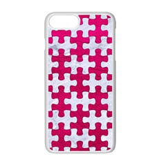 Puzzle1 White Marble & Pink Leather Apple Iphone 7 Plus Seamless Case (white) by trendistuff