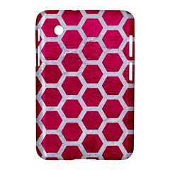 Hexagon2 White Marble & Pink Leather Samsung Galaxy Tab 2 (7 ) P3100 Hardshell Case  by trendistuff