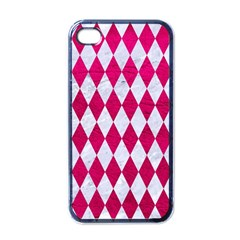 Diamond1 White Marble & Pink Leather Apple Iphone 4 Case (black) by trendistuff