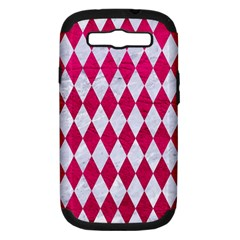 Diamond1 White Marble & Pink Leather Samsung Galaxy S Iii Hardshell Case (pc+silicone) by trendistuff