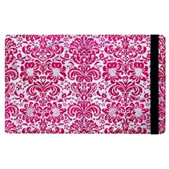 Damask2 White Marble & Pink Leather (r) Apple Ipad Pro 9 7   Flip Case by trendistuff