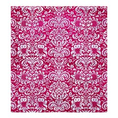 Damask2 White Marble & Pink Leather Shower Curtain 66  X 72  (large)