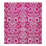 DAMASK2 WHITE MARBLE & PINK LEATHER Shower Curtain 66  x 72  (Large)  58.75 x64.8 Curtain