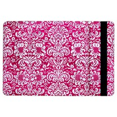Damask2 White Marble & Pink Leather Ipad Air 2 Flip by trendistuff
